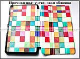 Color Blocks оригинальный чехол книжка Huawei Mediapad T3 8 KOB-L09, чехол TFC эко кожа Кубики, фото 3