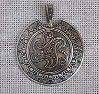 """Кельтская подвеска-колт """"Трискель"""" из мельхиора. Обереги"""