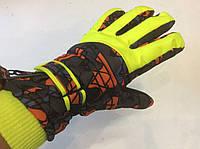 Перчатки горнолыжные женские р.М (р.7) (принт/салатовые) , фото 1