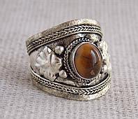 Кольцо с тигровым глазом № 3. Кольца с камнями