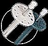 10х100 мм Дюбель для крепления термоизоляции с металлическим гвоздем