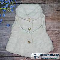Белая жилетка из искусственного меха для малышей Размеры: 2-3-4 года (5671-3-1434)