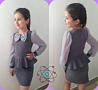 Платье детское школьное в расцветках 11074