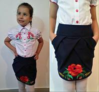 Юбка детская школьная в расцветках 11078