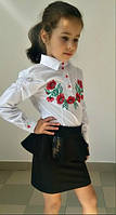 Юбка детская баска школьная в расцветках 11082