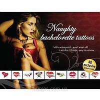 Интимные игрушки Эротические временные татуировки Naughty Bachelorette