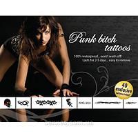 Интимные игрушки Эротический набор временных татуировок Punk Bitch