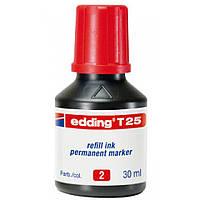 Чорнило для заправки Permanent e-T25 червоне 1434T25/02