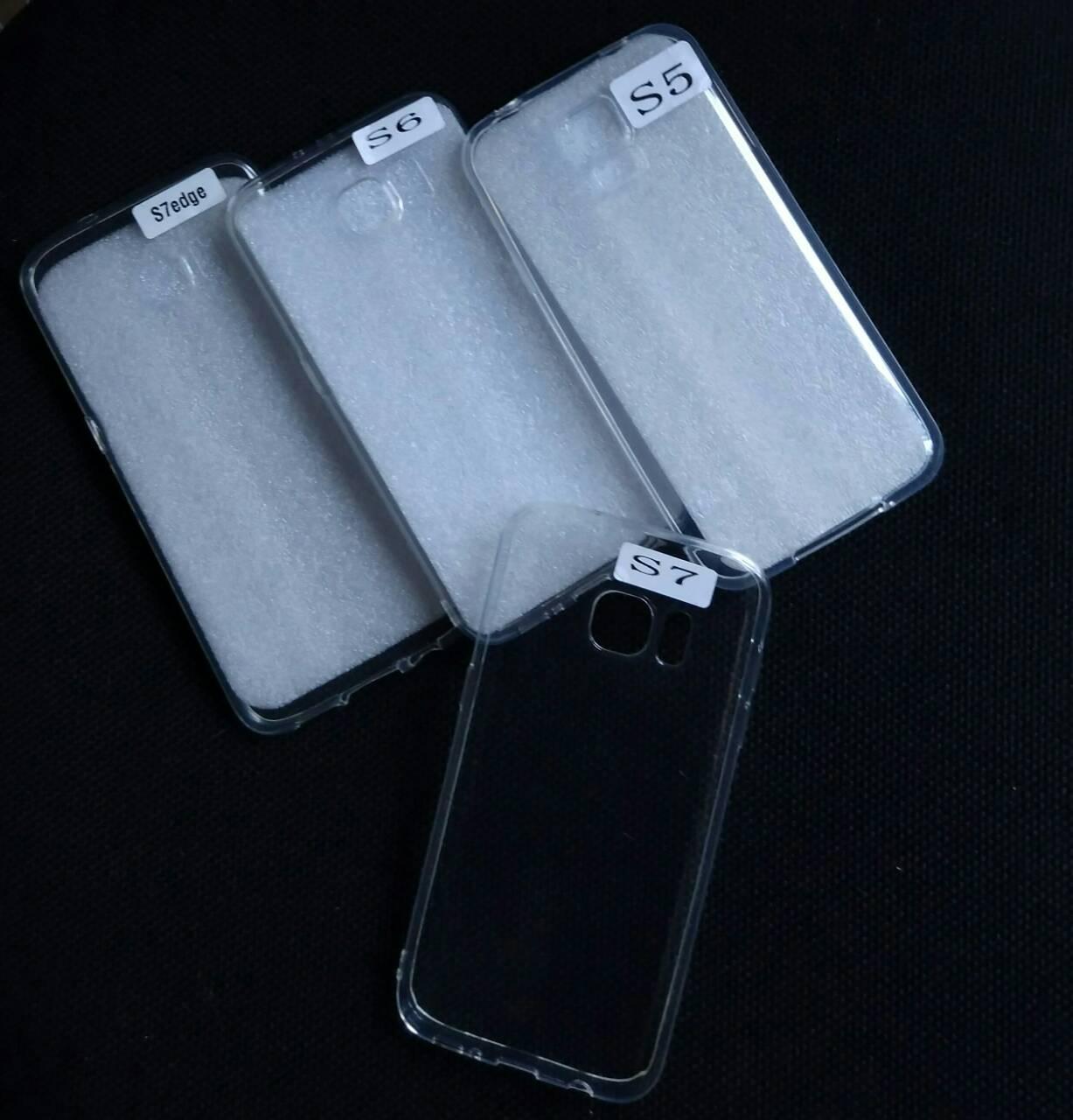 Силиконовый прозрачный чехол на Samsung Galaxy S7 , оптом