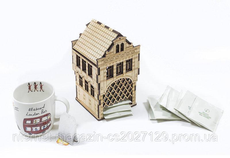 """Домик для чайных пакетиков """"Амстердам"""" (декупаж)"""