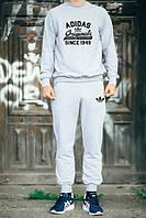 УТЕПЛЕННЫЙ Мужской Спортивный костюм Adidas Originals серый