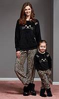 Пижама плюшевая теплая мама и дочки! Турция.CATHERINE'S 1100