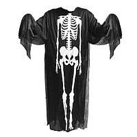 Карнавальный Костюм Скелет с Реалистичной 3D-Маской Платье  для Вечеринки