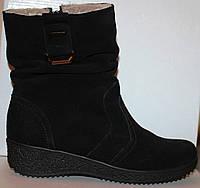 Ботинки замшевые зимние на маленькой платформе, женская обувь от производителя модель БМ20