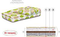 Комплект Лежебока (матрас + простыня + одеяло + подушка) 60х120