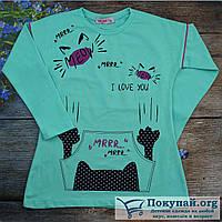 Туника длинный рукав для девочек Размеры: 110-116-122-128 см (5684-1)