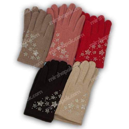 Перчатки для девочки трикотажные с подкладкой, 655-3