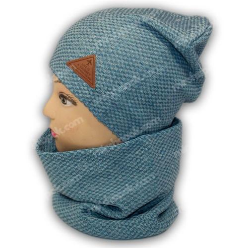 комплект шапки и шарфа хомута