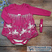 Боди платье и повязка для малышей Размеры: 56-62-68-74 см (5687-2)