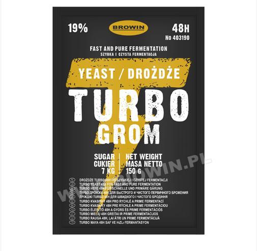 Turbo Yeast Grom 48 часов, 150 г  - BIOWIN.UA в Киеве