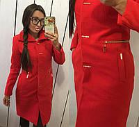 Пальто женское кашемировое в расцветках 12044