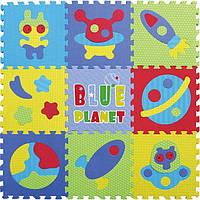 Детский игровой коврик-пазл Baby Great Космическое пространство 92х92 см (GB-M1703)