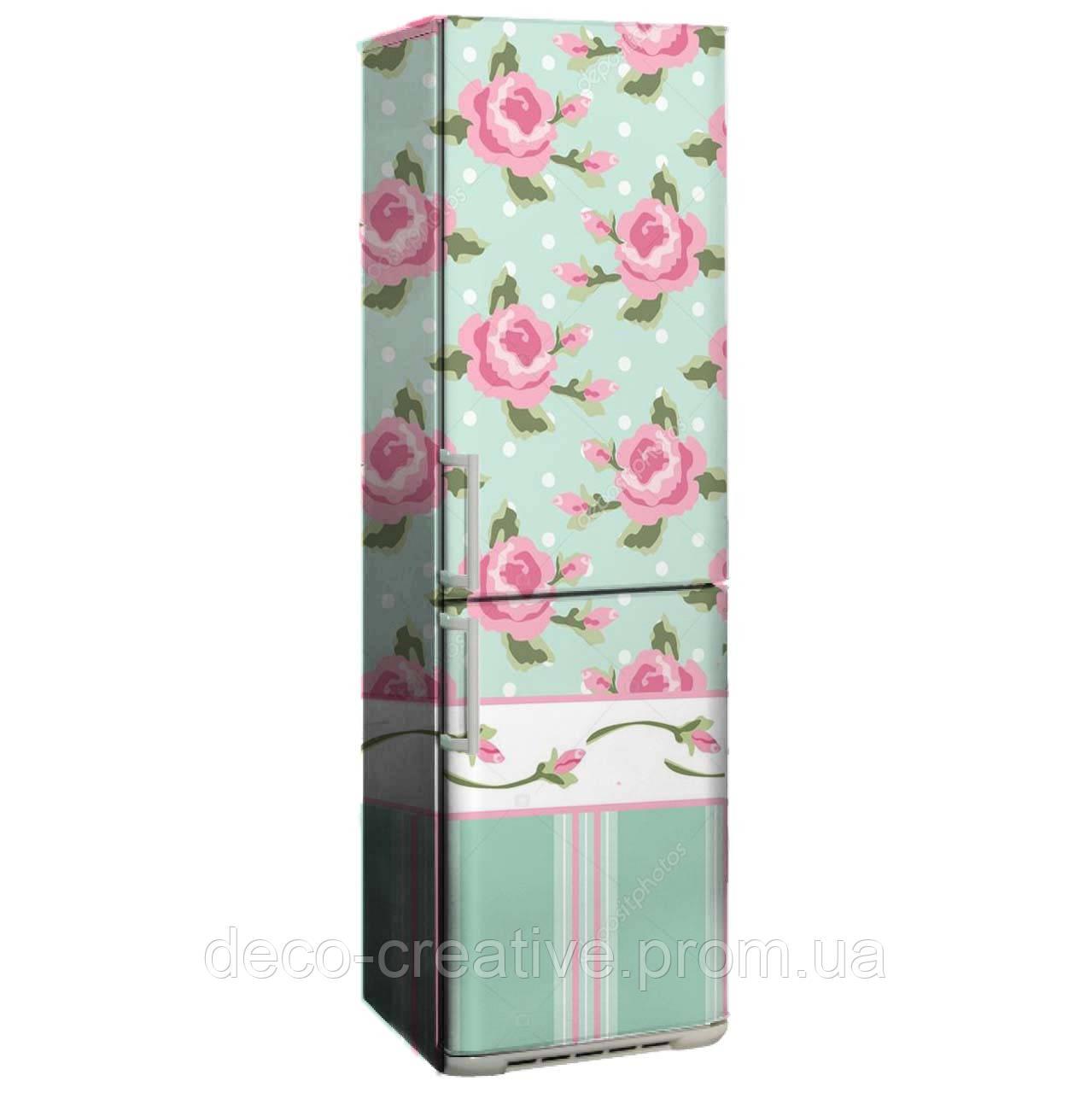 """Наклейка на холодильник """"Винтажные розы"""""""