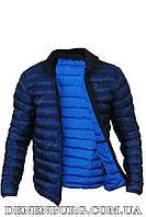 Куртка мужская демисезонная ARMANI A6269 синяя, чёрная