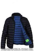 Куртка мужская демисезонная HUGO BOSS B6269 тёмно-синяя, чёрная