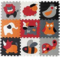 Детский игровой коврик - пазл Веселый зоопарк 92х92 см Baby Great (GB-M129A4)