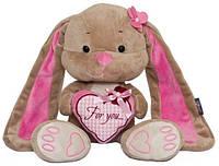 Мягкая игрушка Jack&Lin Зайка Лин с сердечком 25 см (JL-001-25)