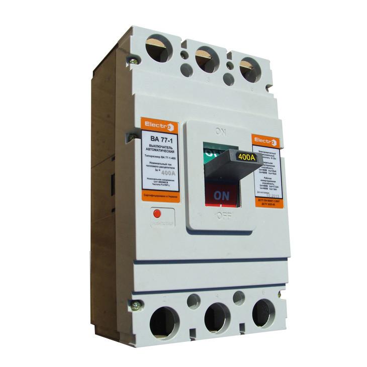 Автомат 3 полюса 315А Icu 35кА 380В (ВА77-1-400)
