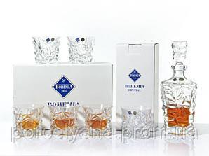 Набор для виски Bohemia Glasier 6+1
