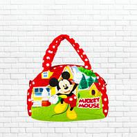 Детская сумка,Микки,красная