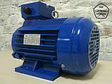 Электродвигатель 2,2 кВт 3000 об. Асинхронный Трехфазный АИР80B2., фото 3