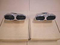 Насадки глушителя S65 AMG на Мерседес W221