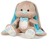 Мягкая игрушка Jack&Lin Зайчик Жак с голубой бабочкой 25 см (JL-014-25)