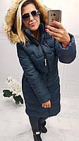 Женская зимний пуховик пальто с капюшоном