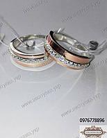 Обручальные кольца из серебра 40н