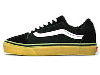 Зимние мужские кеды Vans Old Skool Black Gum Winter Edition (Реплика ААА+) b8637d51e28