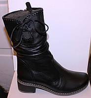 Ботинки зимние на каблучке, женская обувь от производителя модель БМ718