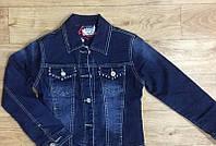 Куртка джинсовая на меховой подкладке 116 / 146 см