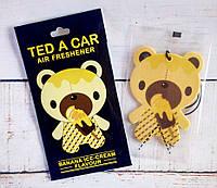 """Стильный парфюмированный ароматизатор Ted a car вавто/гардероб """"Banana-Icecream"""" Банановое мороженое"""