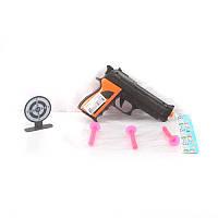 Пистолет 606-7 присоски 3 шт 6 см, мишень