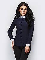Стильна жіноча темно-синя сорочка Ramada