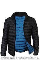 Куртка мужская демисезонная ARMANI A6269 чёрная, синяя