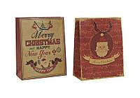 Подарочная коробка Веселое Рождество бумажная 26X12X33см