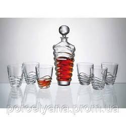Набор для виски Bohemia Wave 6+1