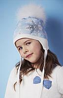 Шапка детская для девочки с помпоном BARBARAS (Польша)