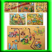 Деревянная игрушка Лабиринт MD 0967, 6 видов, 35-25-2 см